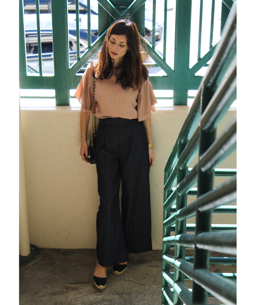 Tiered sleeved blouse
